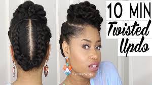 Natural Twist Hairstyles The 10 Minute Twisted Updo Natural Hairstyle Youtube