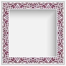<b>Square Photo</b> Frame With <b>Lace</b> Border Pattern, Vector Ornamental ...