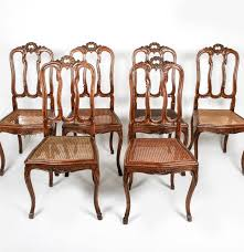 louis xv style dining chairs set set of six french louis xv style cane seat dining chairs