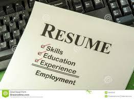 successful employment concept resume checklist royalty successful employment concept resume checklist