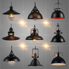 industrial vintage pendant lights with e27 edison bulb american country style loft iron retro pendant american country style loft