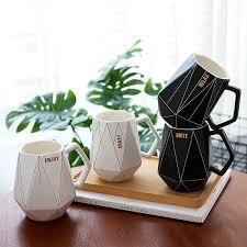 450 ml Mug <b>Creative Polygon Ceramic Mug</b> Office Water Cup Coffee ...