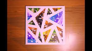 <b>Geometric Abstract</b> Acrylic Painting Technique Using Tape Creating ...
