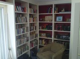 custom built in bookshelves for a library traditional home office atherton library traditional home office