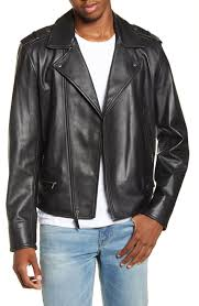 <b>Men's Leather</b> (<b>Genuine</b>) Coats & Jackets | Nordstrom