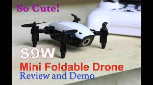 SUPER <b>SMALL</b>, SUPER COOL! The S9W <b>Foldable Drone</b> Review ...