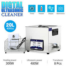 Digital Stainless <b>Ultrasonic</b> Cleaner <b>20L</b> Heated Timer Degas <b>Sonic</b> ...
