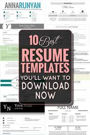 17 best ideas about resume templates resume resume the 10 best resume templates you ll want to now repined