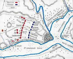 battle of quebec  map of the battle of quebec 13th 1759 in the french and n war or