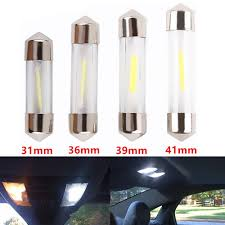 <b>2pcs C5W</b> COB <b>Led Car Interior</b> Bulbs 31mm 36mm 39mm 41mm ...
