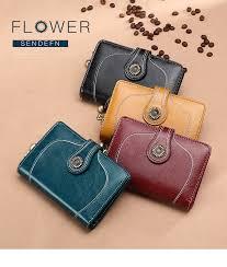 SENDEFN <b>Vintage Style Women</b> Clutch Small Wallet Top Leather ...