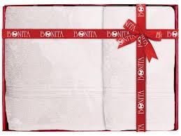 <b>Полотенце Bonita 70x140cm White Lilac</b> - ElfaBrest