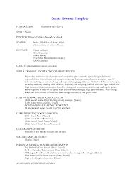 soccer resume for college  seangarrette cosoccer