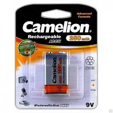 <b>Аккумулятор Camelion</b> тип Крона, <b>9V</b>, 250 mAh купить в интернет ...