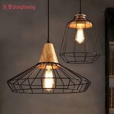vintage industrial lamps restaurant bedroom living room cafe lights edison wood loft cafe lighting and living