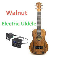 Acoustic Electric <b>Concert Ukulele 23 Inch</b> Mini Hawaiian Guitar 4 ...