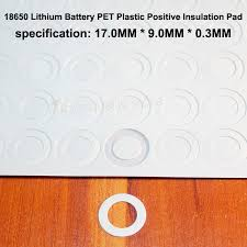 <b>100pcs</b>/<b>lot 18650 Lithium Battery</b> PET Plastic Insulation Blank ...