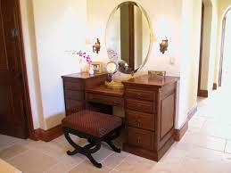 vanity set storage drawers table bedroom mirror  brown wood makeup vanities with oval mirror vanity and stools