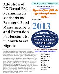 pdf agribusiness research paper adoption of pc based feed image annotated cover of agribusiness research paper i got paid to write in