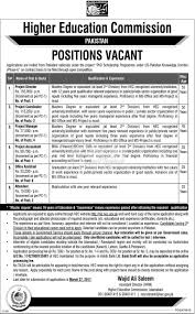 higher education commission hec jobs paperpk jobs higher education commission hec 2017 jobs