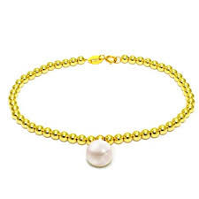 Sinya Solid 18k Gold Bead Strand Bracelets with ... - Amazon.com