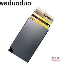 <b>Weduoduo</b> New <b>Brand Credit</b> Card Holders RFID Aluminum Alloy ...