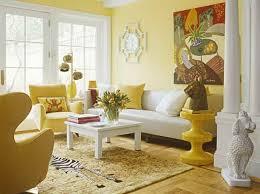 yellow walls living room zen ideas