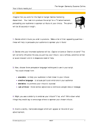 five paragraph essay hunger games