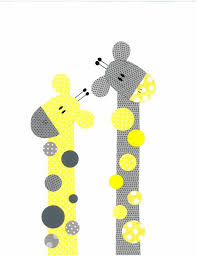 themed kids room designs cool yellow: yellow and grey giraffe nursery artwork print baby room decoration kids room