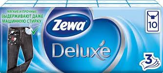 <b>Zewa Deluxe платки носовые</b> бумажн 3х слойн неароматиз 10шт ...