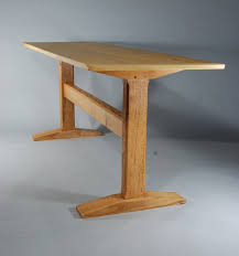 dining table woodworkers:  trestle table  done