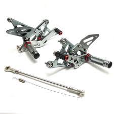 KEMiMOTO <b>Motorcycle Accessories CNC Adjustable</b> Rearset Rear ...