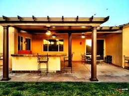 great alumawood patio covers in brown with kitchen island and bar stool for outdoor kitchen decor brown covers outdoor patio