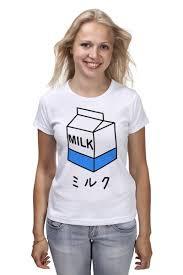 Футболка классическая milk 1 #512743 – заказать женские ...
