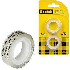 <b>Клейкая лента</b> канцелярская <b>3M</b> SCOTCH 136R2 12х6,3 ...
