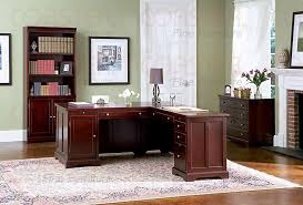 rich cherry l shaped home office set cherry office furniture