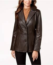 Jones <b>New York</b> V-Stitched Leather <b>Jacket</b> | Мода