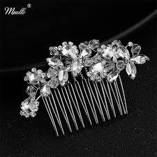 Miallo <b>Newest Hair Clips</b> Wedding Hair Ornaments Crystal Silver ...