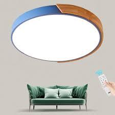 Nordic Simple <b>Modern</b> Wood <b>Ceiling Lamp Ultra thin</b> Japanese LED ...