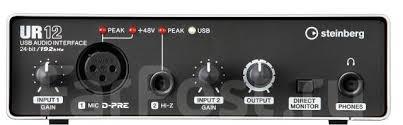<b>Аудиоинтерфейс Steinberg UR12</b> (Магазин Yamaha Music World ...