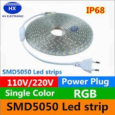 110V/220 240V High Voltage <b>100m</b> Led Strips 5050 <b>Waterproof</b> ...