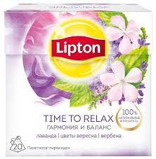 Чайный напиток травяной <b>Lipton</b> Time to relax в пирамидках ...