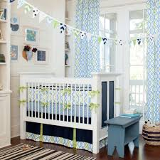masculine amusing bedroom baby nursery bedding set design freestanding white crib plus white sky blue zigzag baby nursery nursery furniture cool