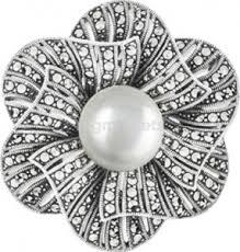 <b>Броши</b> серебряные с марказитами Swarovski купить в Хабаровске