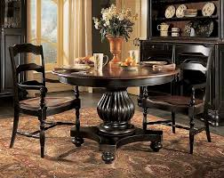 Black Dining Room Chairs Pedestal Black Wood Dining Table Including Modern Black Leather