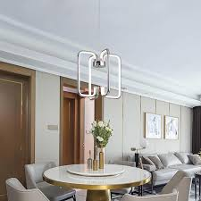 <b>Gold</b>/<b>Chrome Plated Finish Modern</b> led Pendant lights for living ...