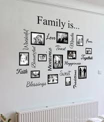 wall decal family art bedroom decor wall art artwork mural paintings family wall art quote collage awesome photos on framed bordered