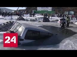 ЧП на острове Русский: около 30 машин местных рыбаков ...