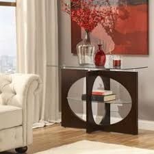 inlay table tops tabletops homelegance cristo top myrtle cappuccino glass top cross leg oval shelf console sofa table