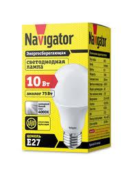 <b>Светодиодная лампочка Navigator</b> 94 388 <b>NLL</b>-<b>A60</b>-<b>10</b>-<b>230</b>-4K ...